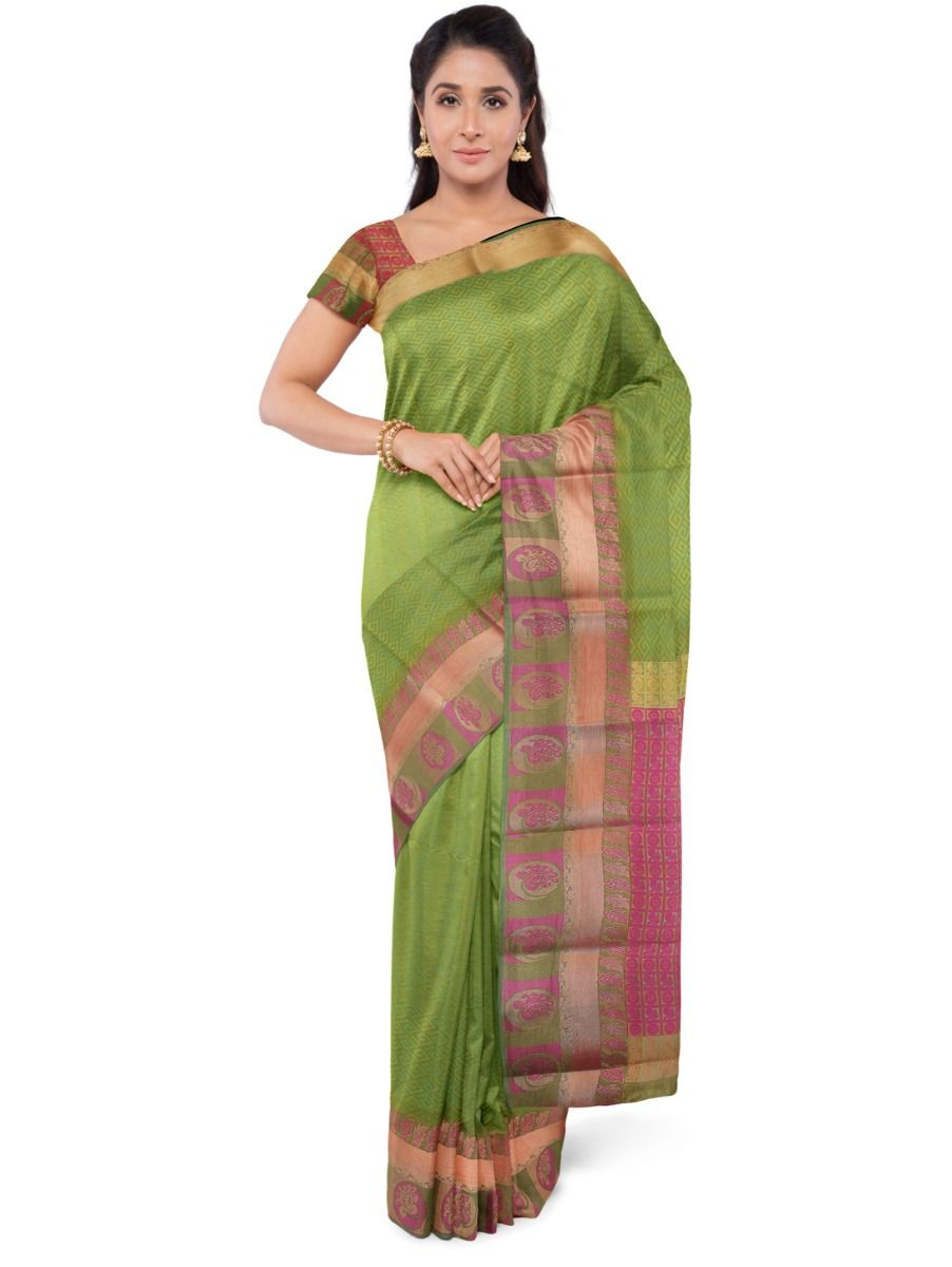 Fancy Art Silk Green Saree