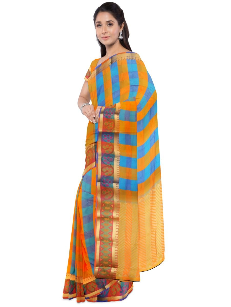 Fancy Art Silk Multi Saree
