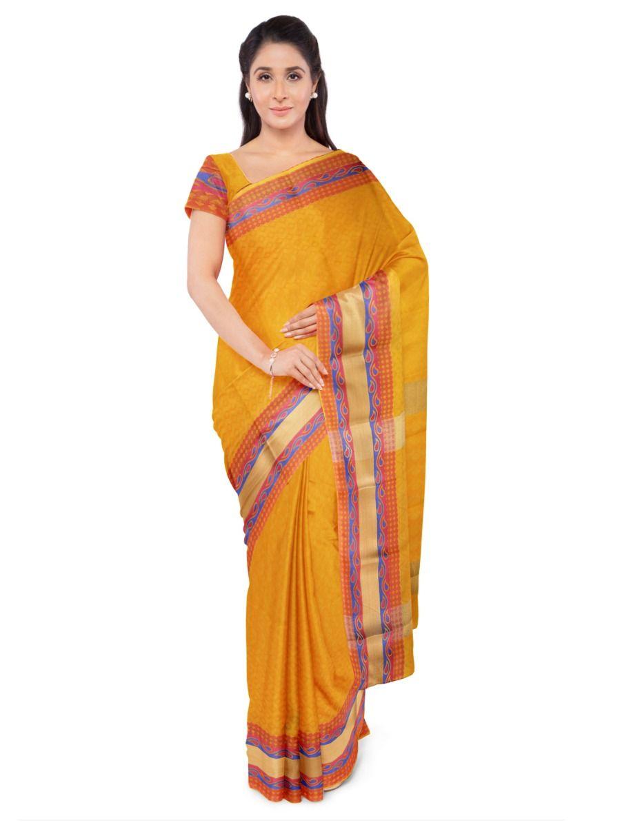 Fancy Art Silk Orange Saree