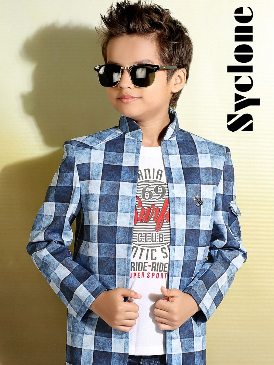 Syclone Boys Blazer With T-Shirt - TUP5828