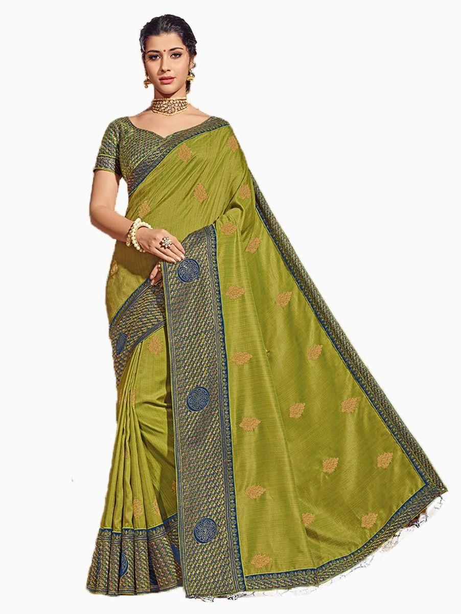 Party wear Sana Silk Green Saree - PWSS8662
