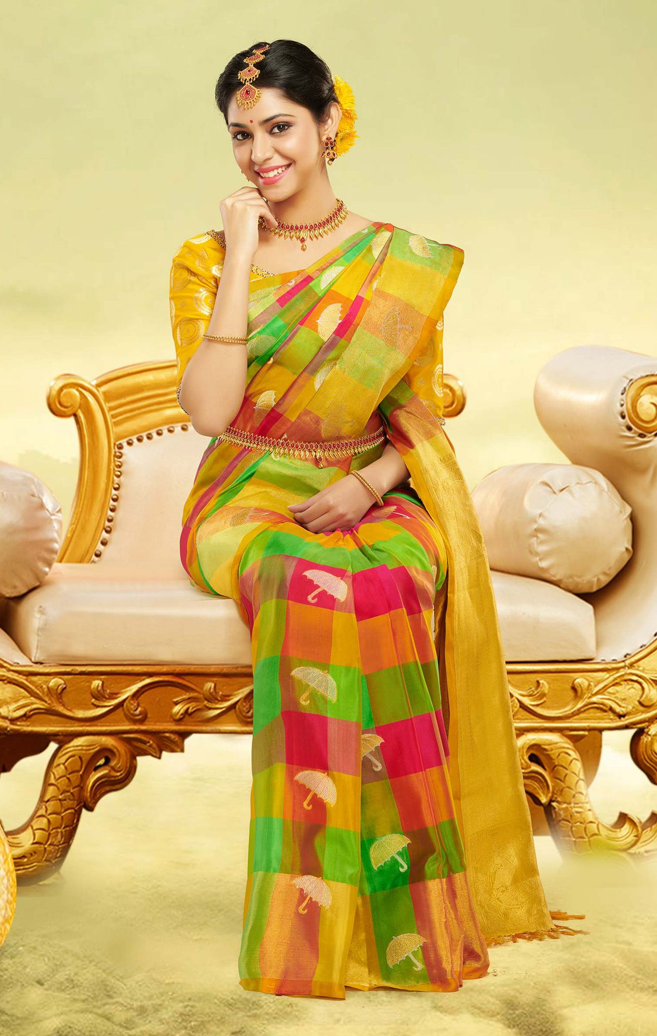 Vipanji Soft Silk Saree-VSSS9016