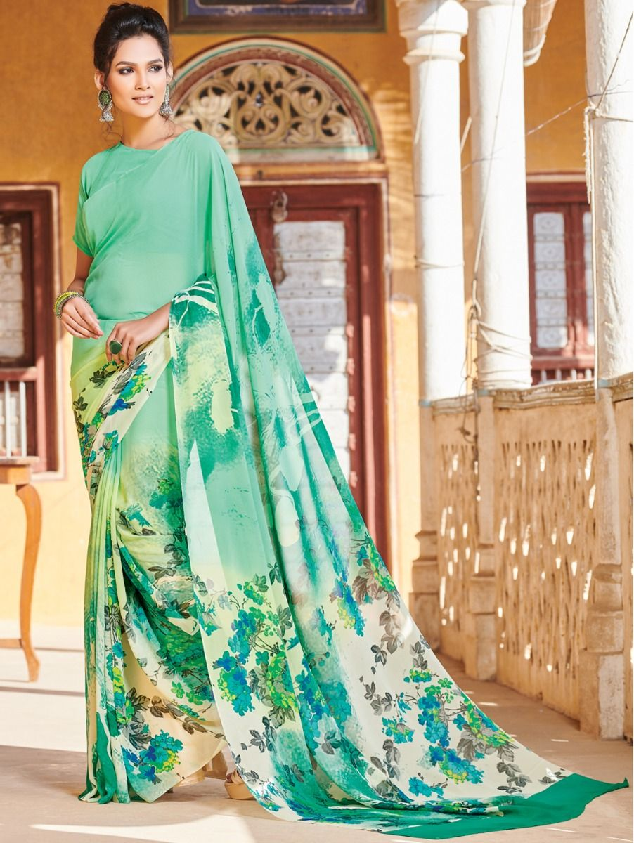 Kyathi Pure Georgette Printed Fancy Saree