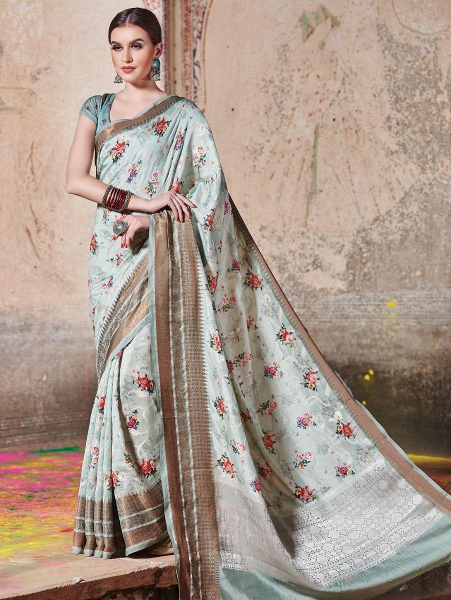 Kyathi Benarsi Katan Silk Digital Printed Fancy Saree
