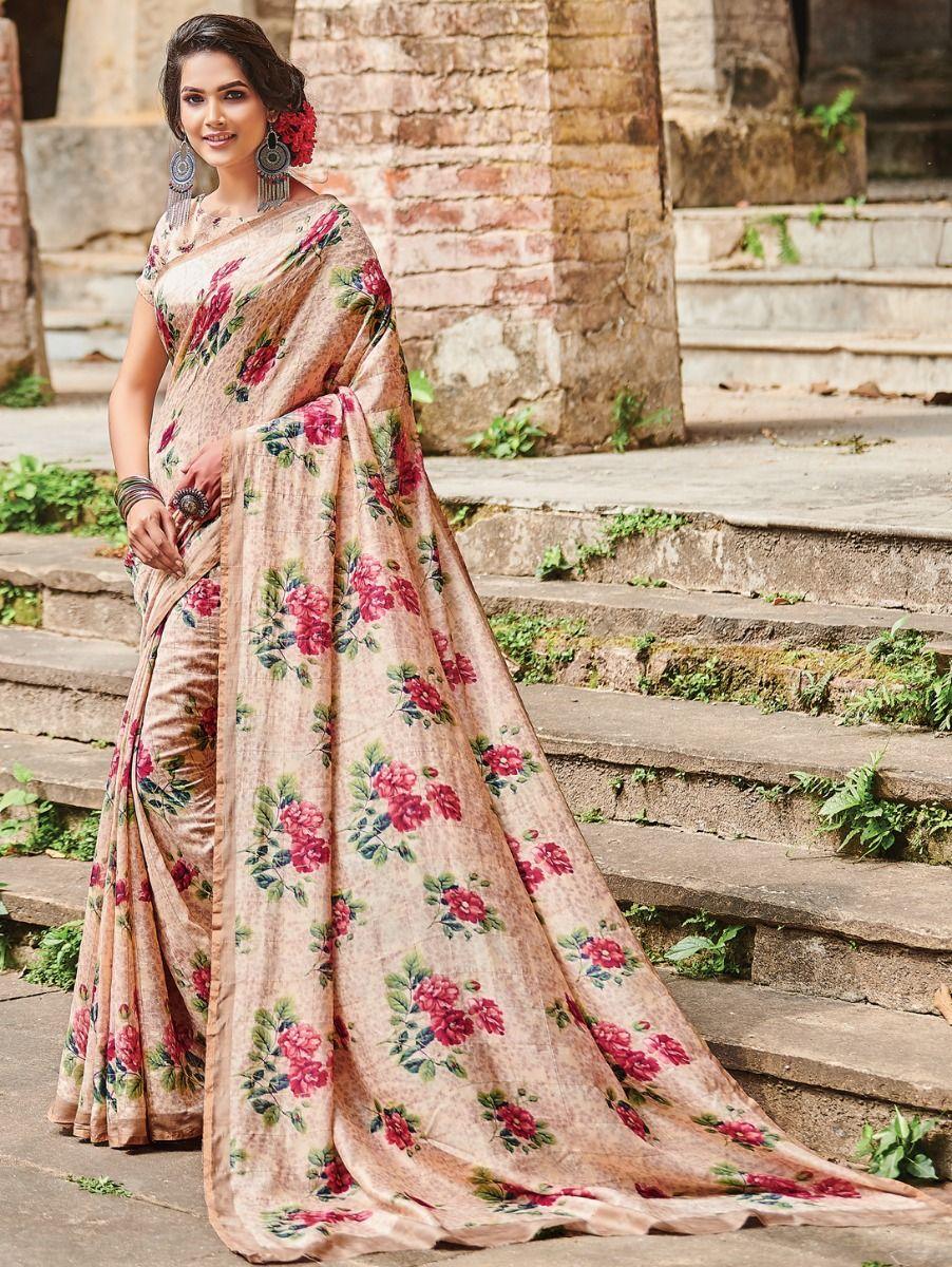 Kyathi Katan Silk Big Checks Printed Fancy Saree