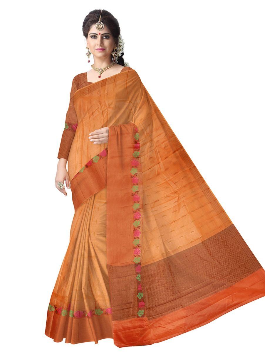 Tussar Sandlewood Silk Saree