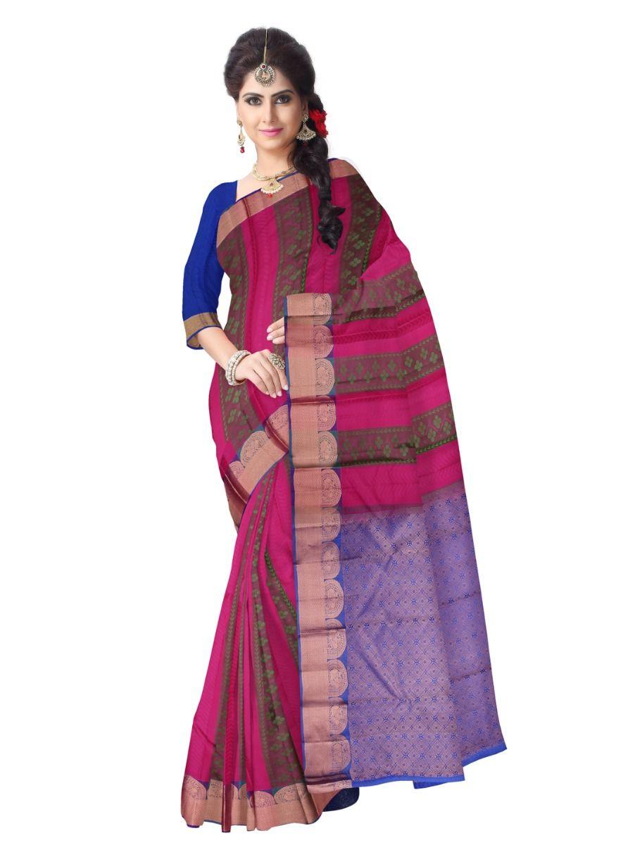 multi-color-checked-traditional-silk-saree-tss9805