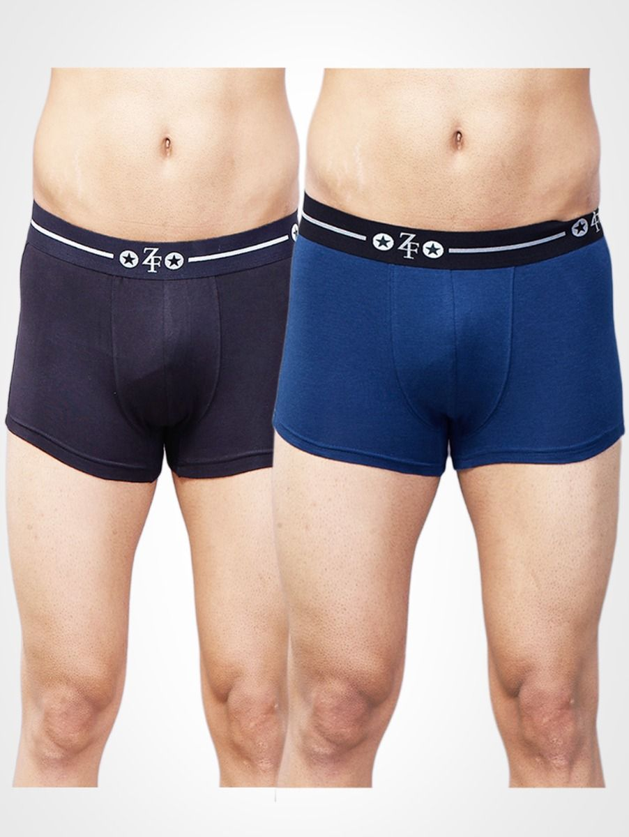 ZF Men's Cotton Trunks Pack of 2 BB-02, Multicolor