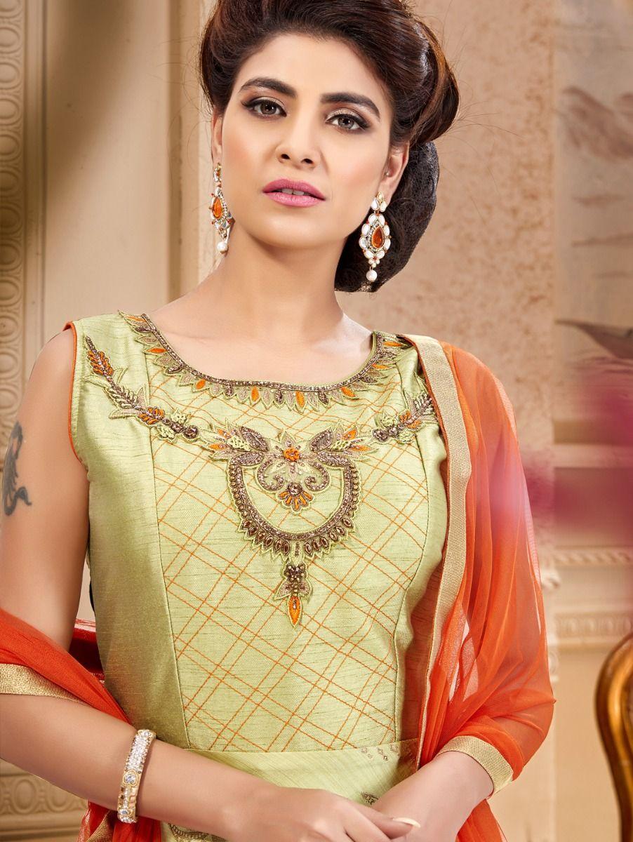 Khyathi Women's Exclusive Hand Work Design Readymade Salwar Kameez