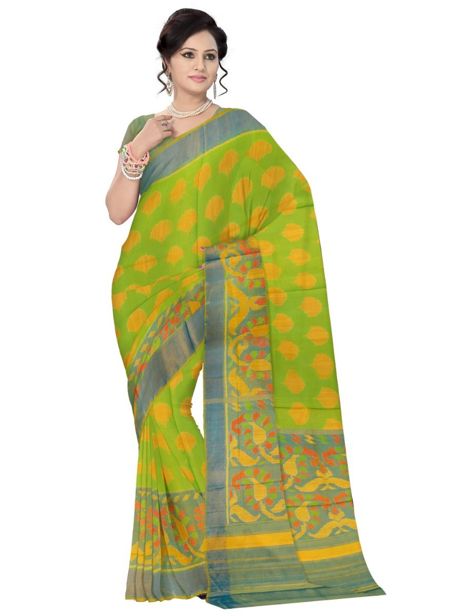 9b4ee4c59aa Vipanji Multicolor Embossed Design Soft Silk Saree. Double tap to zoom