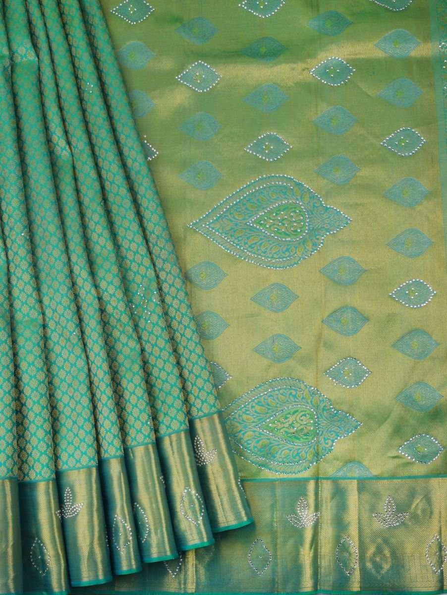 Vivaha Kanchipuram Stone Work Silk Sareee - LFD6731464