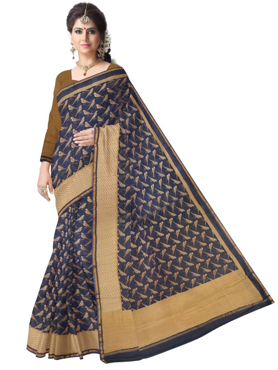 Fancy Chiffon Embroidered Saree