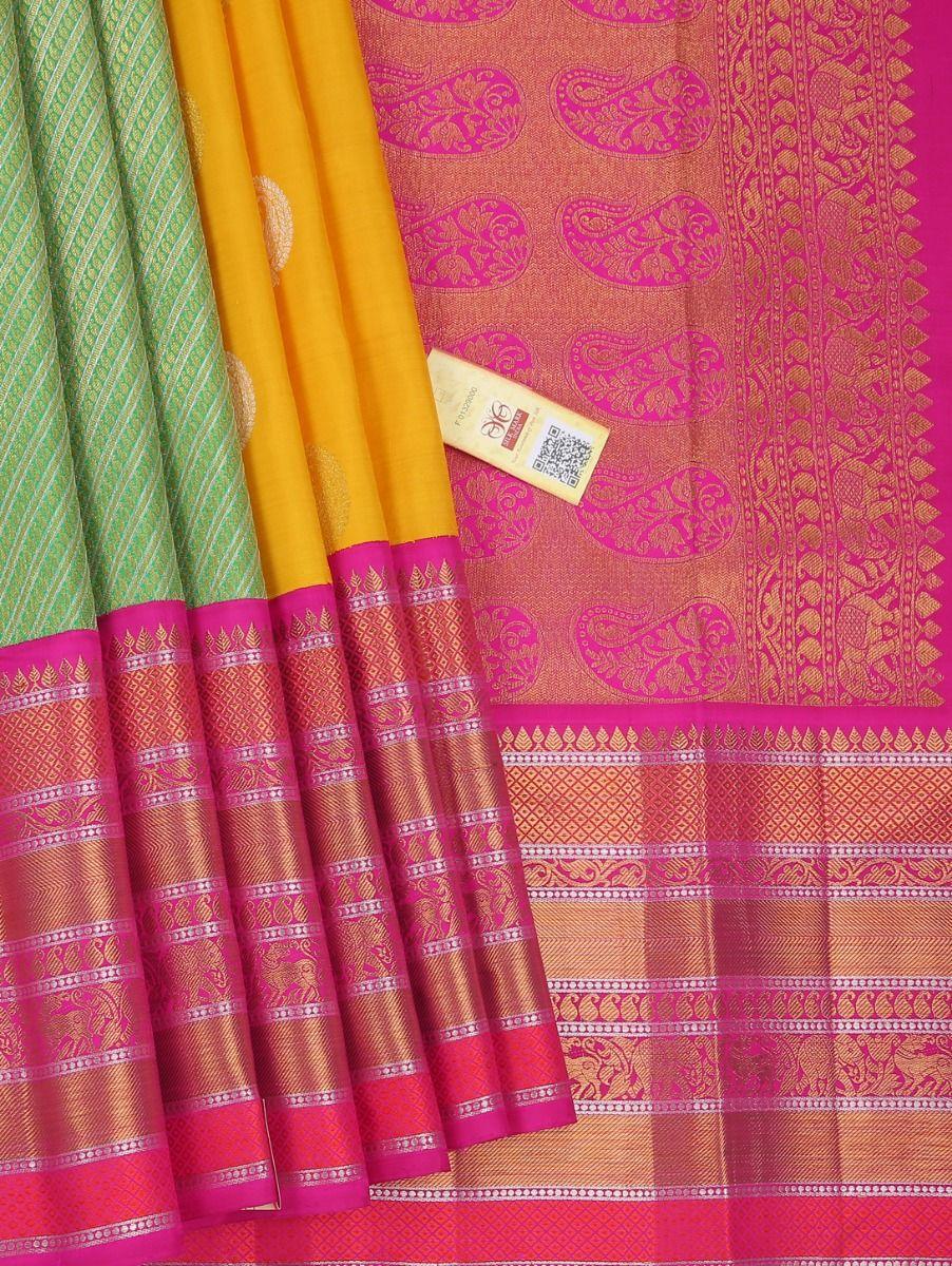 Vivaha Wedding Partly Design Yellow Silk Saree