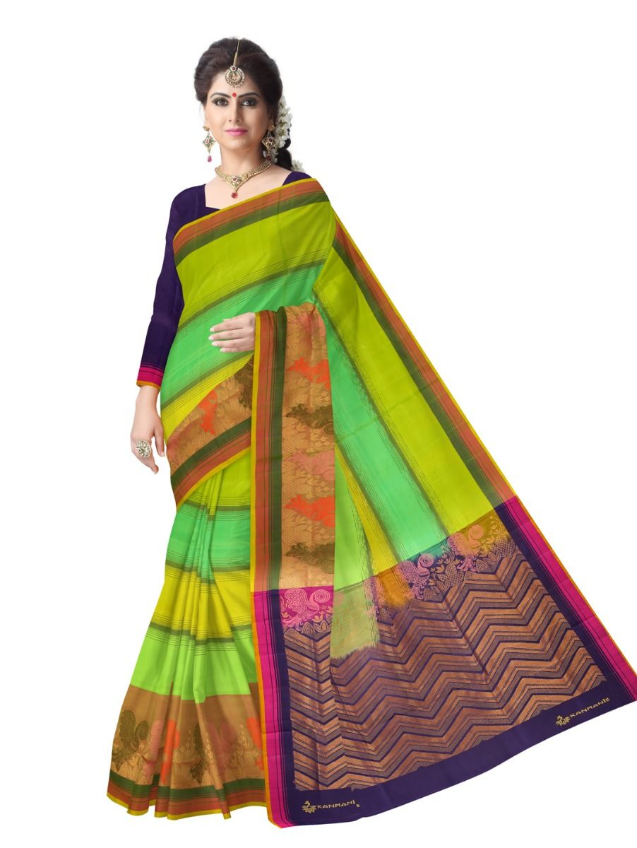 e4bcc1eef79 Kanmanie Soft Silk Saree. Double tap to zoom