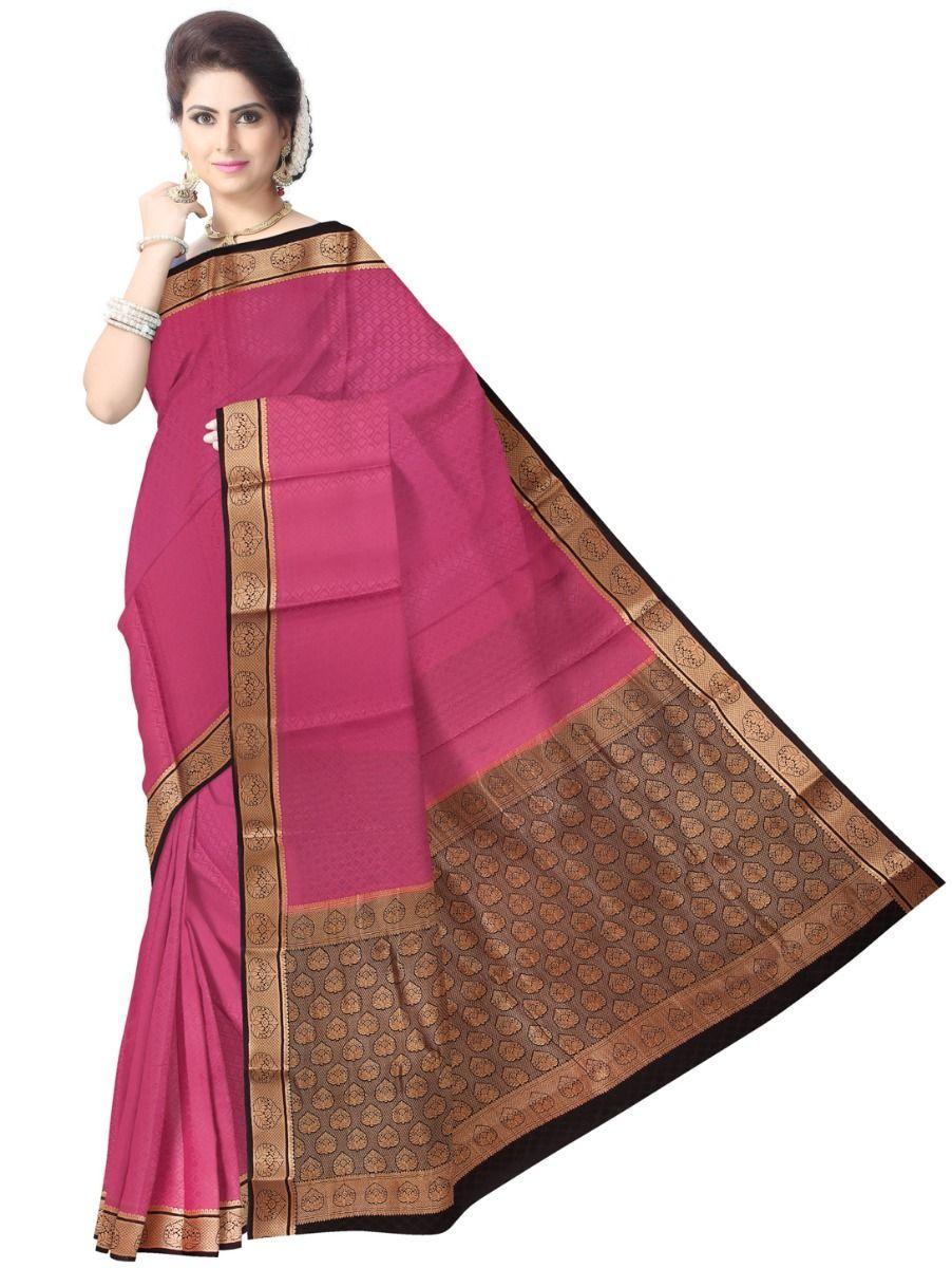 d4ab7680943 Kyathi Mysore Silk Pink Saree. Double tap to zoom