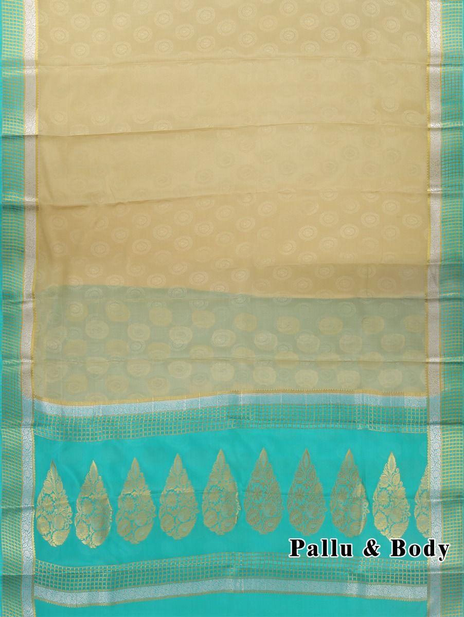 f5c6d91dd78 Kyathi Mysore Silk Cream Saree - LID6484519