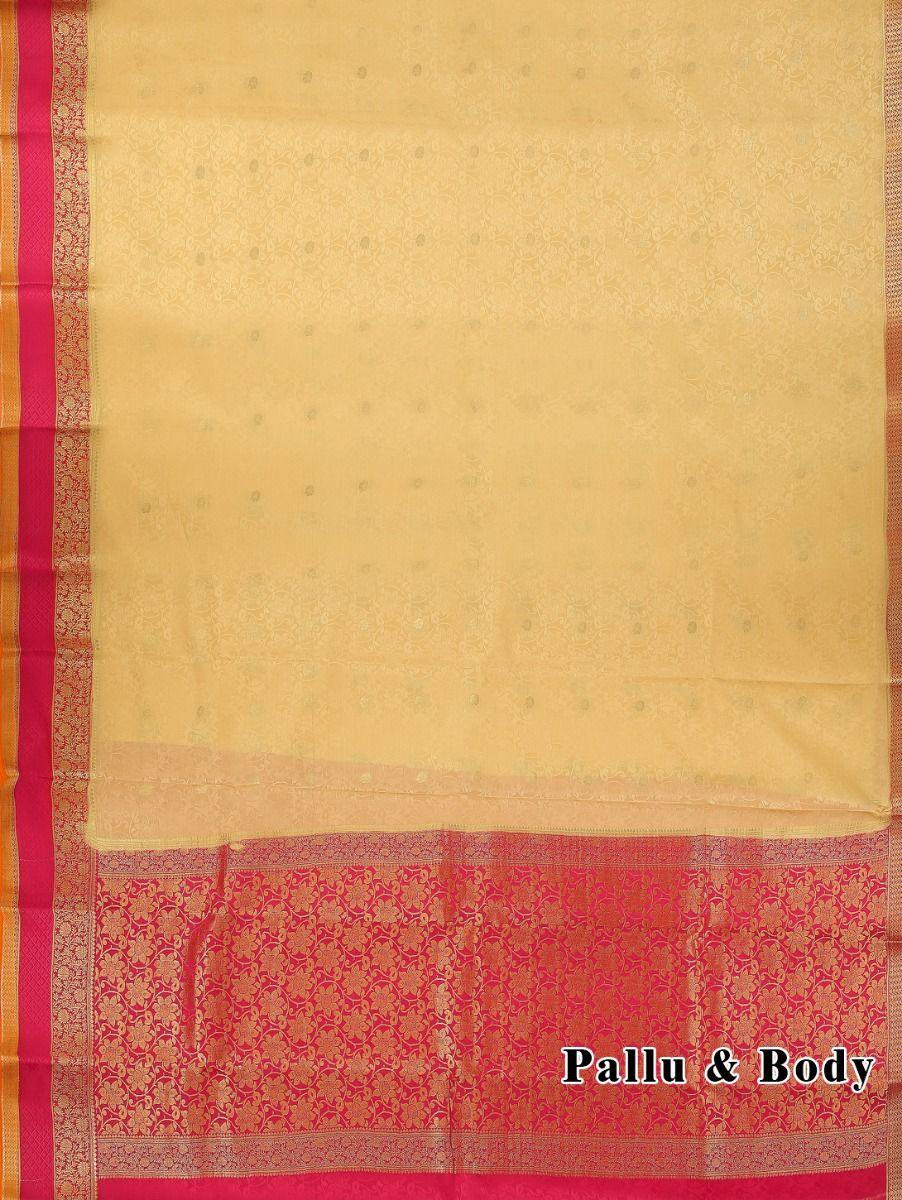 0c70641cffa Kyathi Mysore Silk Cream Color Saree-LID6484537