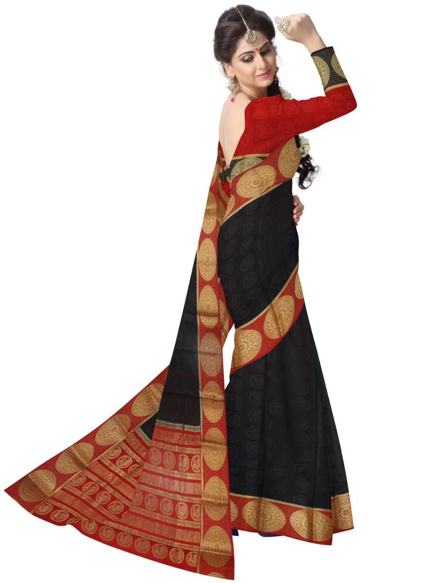 ba5f02624b2 Kyathi Mysore Silk Black Saree-LID6484542