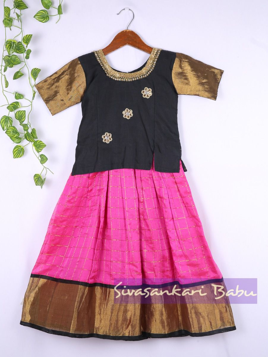 Sivasankari Babu Girls Silk Pavadai Set - LJA7712239