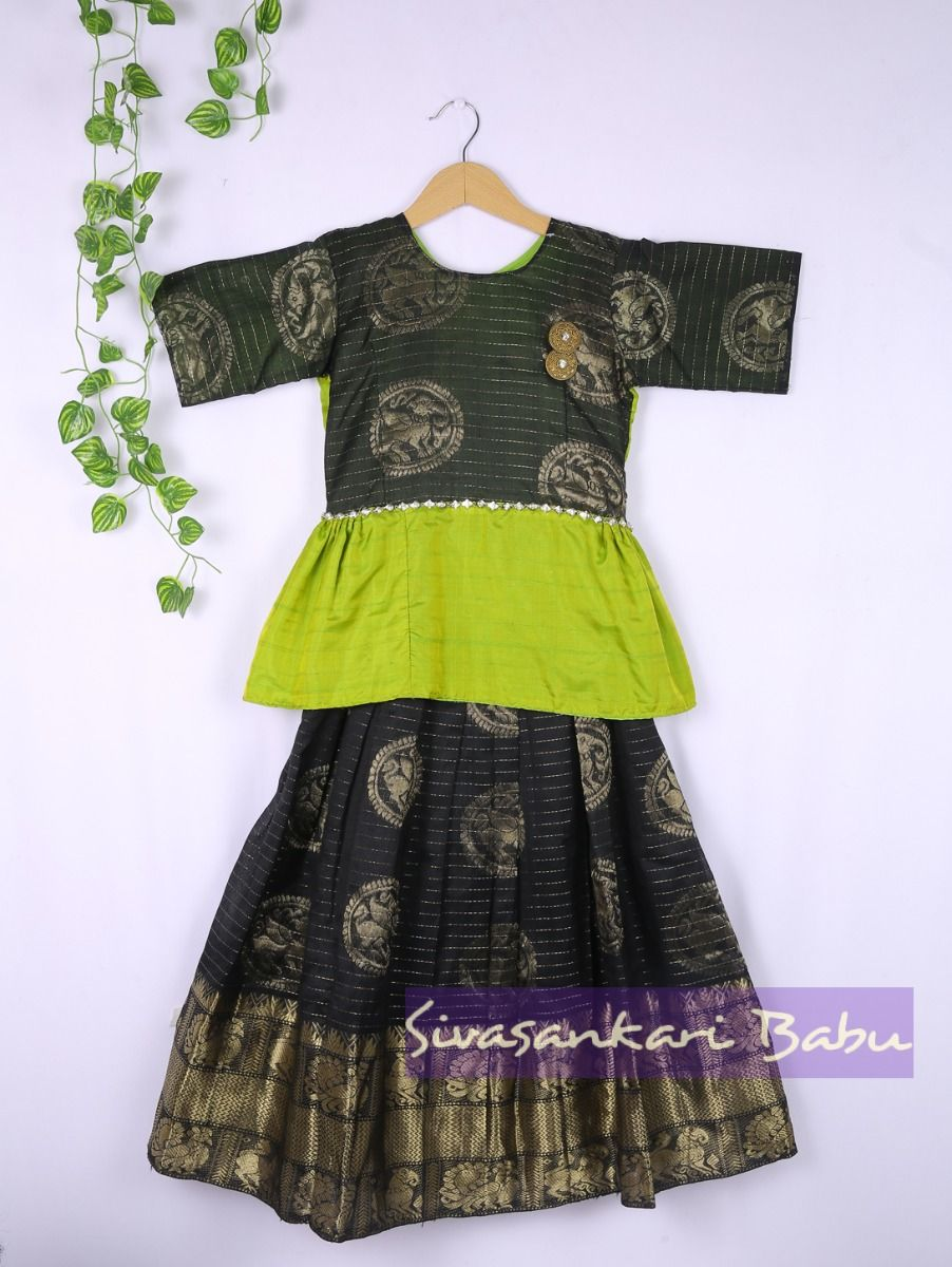 Sivasankari Babu Girls Silk Pavadai Set - LJA7712248