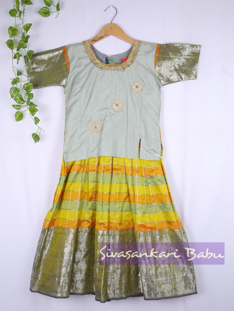 Sivasankari Babu Girls Silk Pavadai Set - LJA7712250