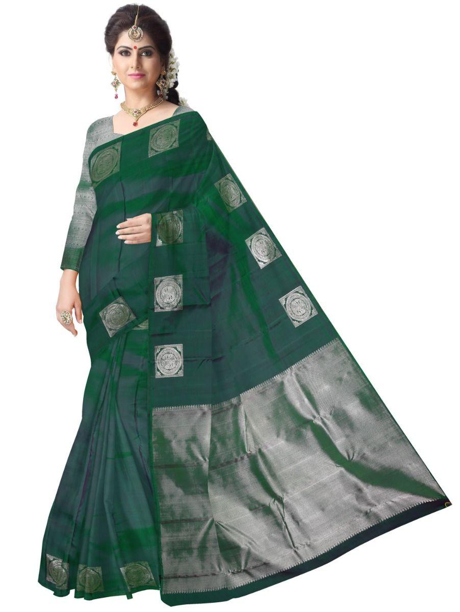 Vivaha Wedding  Silk Saree with Silver jari