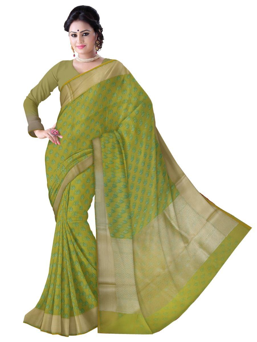 Kathana Fancy Kora Cotton Saree