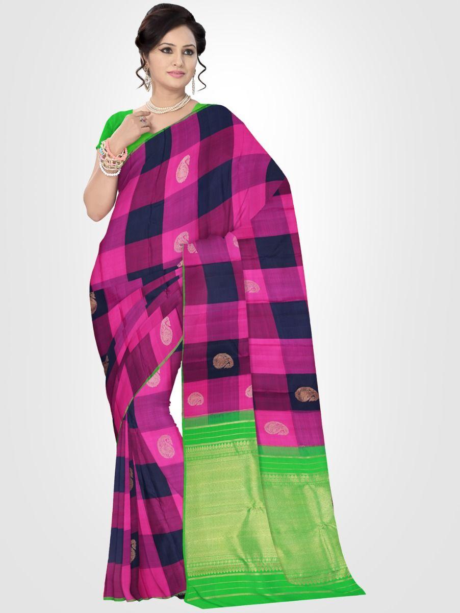 Estrila Kanchipuram Multi Silk Saree - LLB6002077