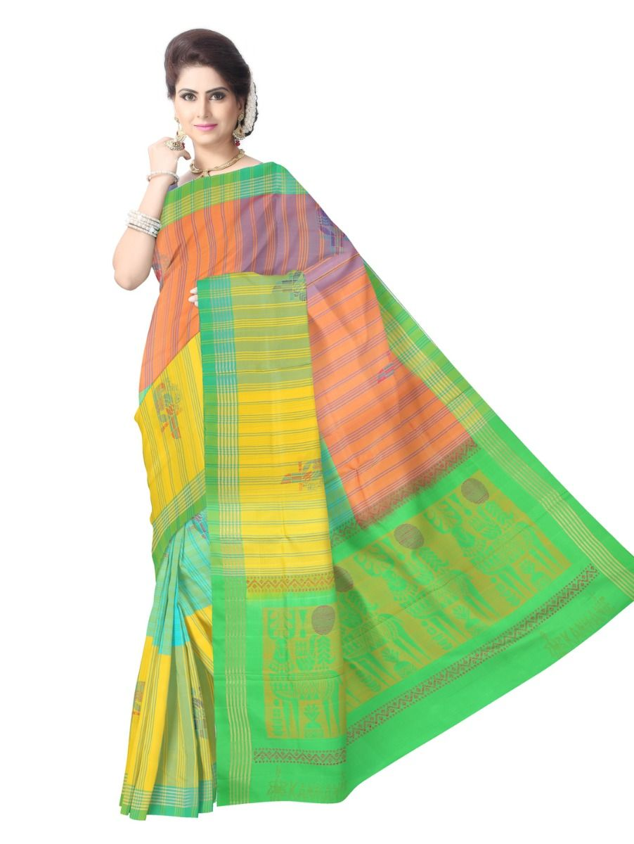 Kanmanie Soft Silk Multicolor Saree