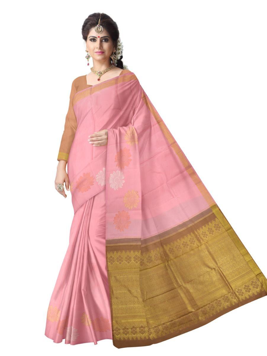 Estrila Handloom Plain Border Wedding Silk Saree