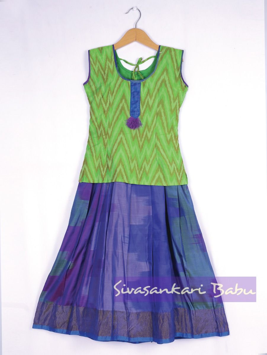 Sivasankari Babu Girls Silk Pavadai Set - MAA0540279