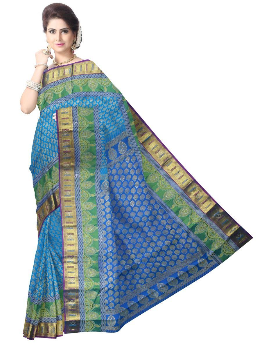 Vivaha Wedding Stone Work Silk Saree - MAB0654342