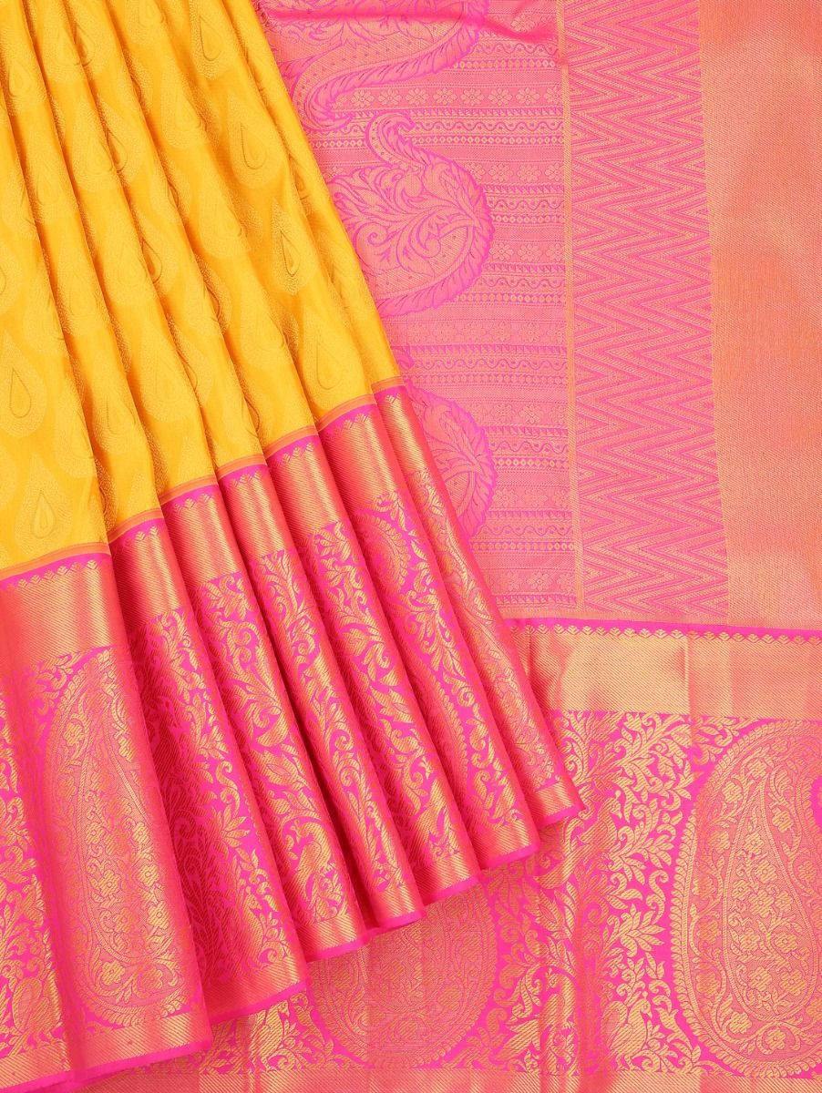 Vivaha Wedding Silk Yellow Saree