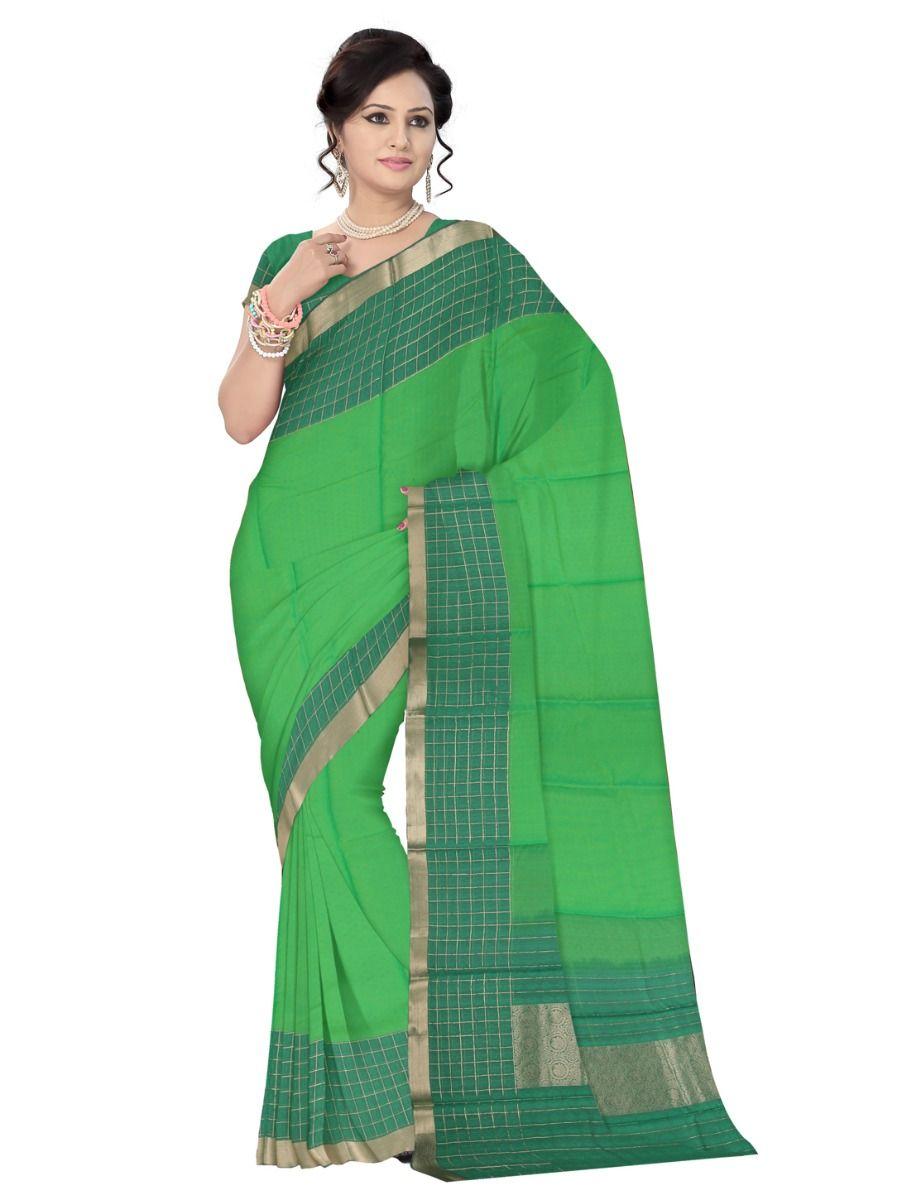 Fancy Kora Silk Cotton Saree
