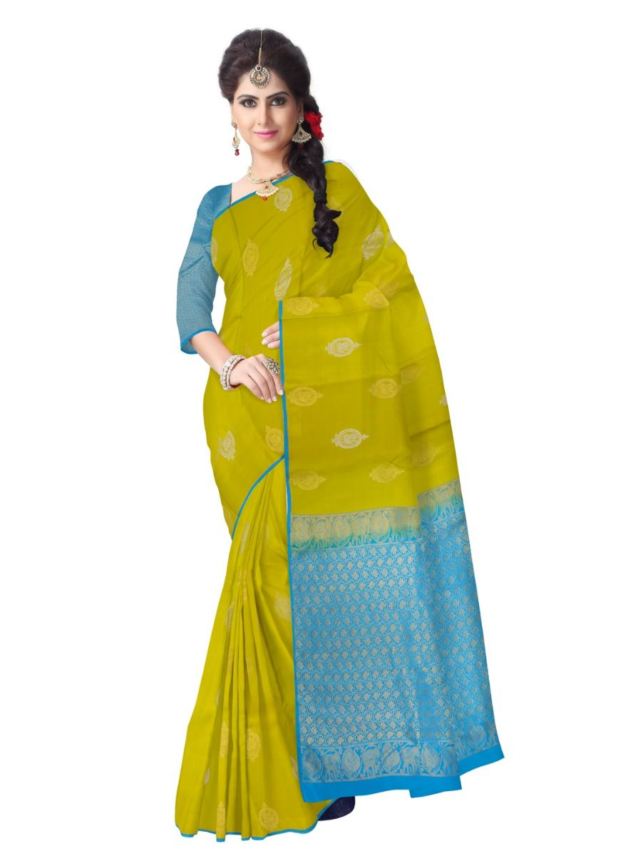 Bairavi Traditional Green Silk Saree