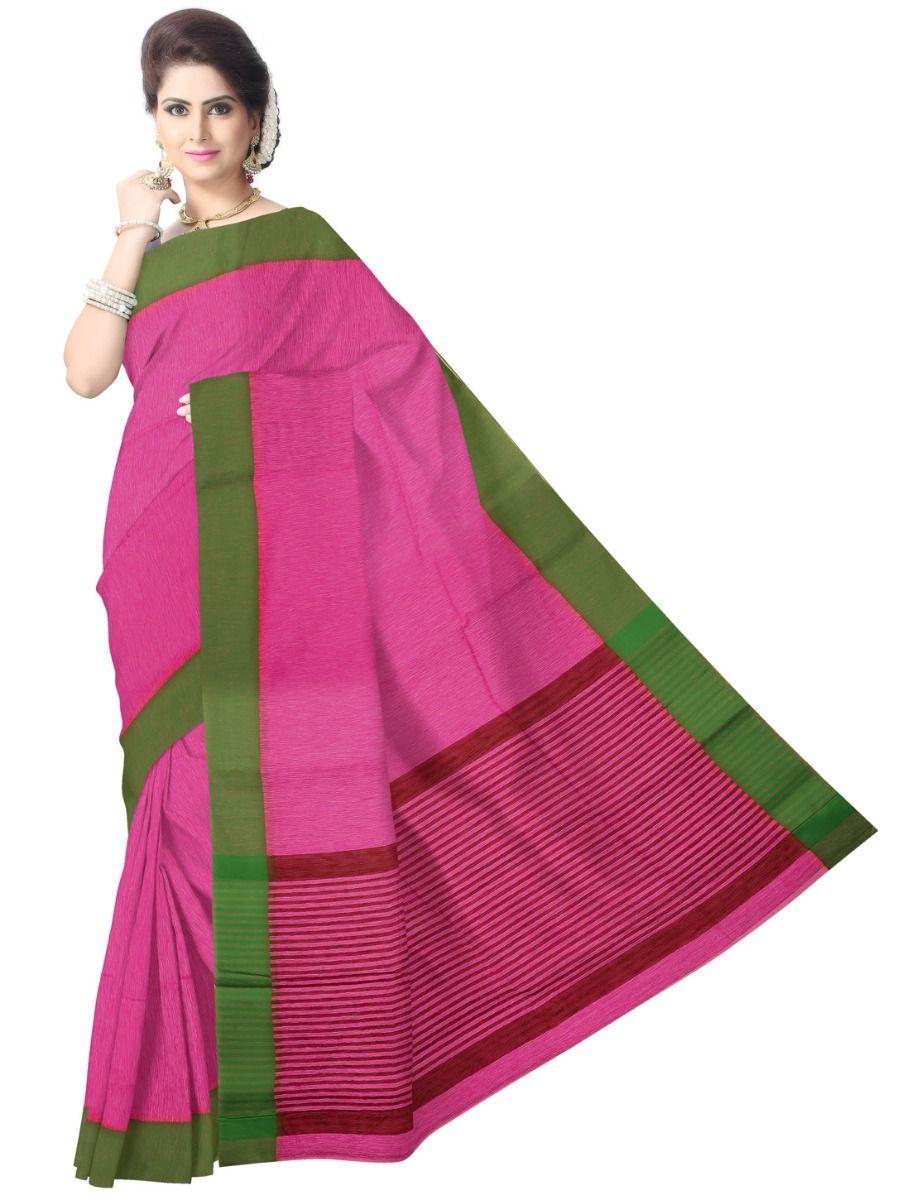 Chammeli Linen Cotton Pink Saree