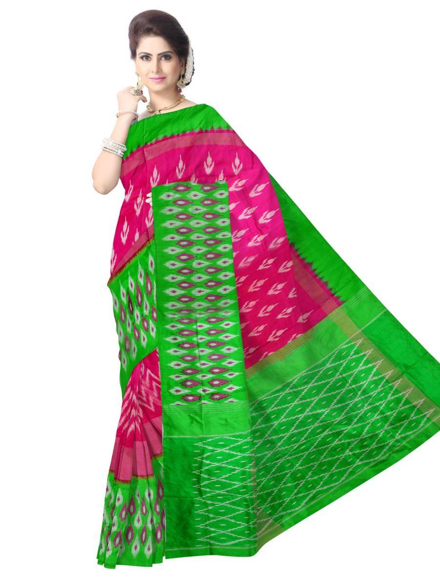 Pochampalli Ikat Soft Silk Pink Saree