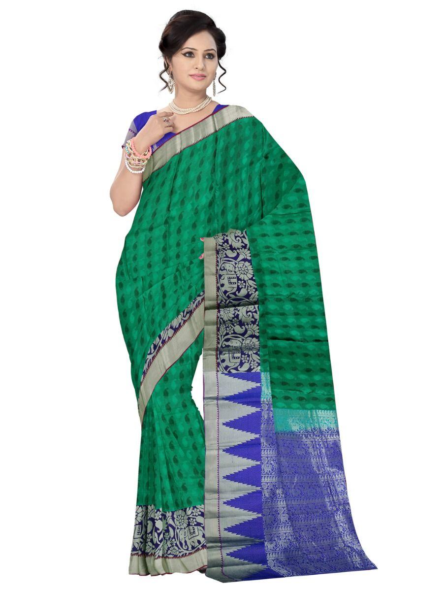 Uppada Traditional Green Silk Saree
