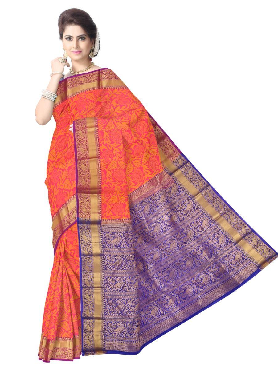 Bairavi Traditional Pink Silk Saree