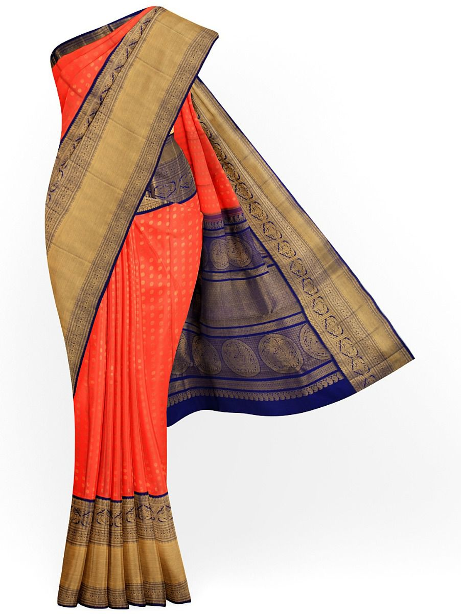 MCA8133433-Vivaha Wedding Pure Kanchipuram Silk Saree