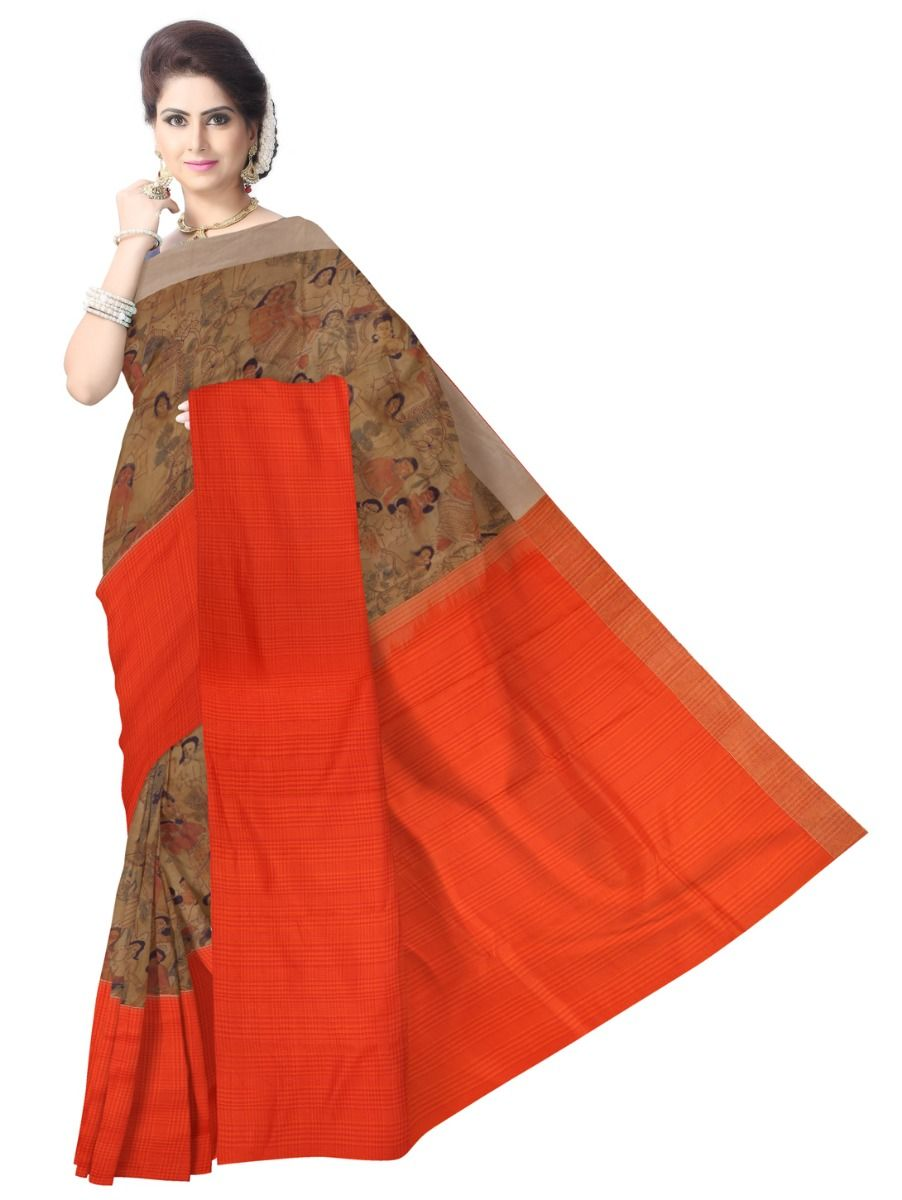 Kyathi Exclusive Linen Fancy Silk Saree