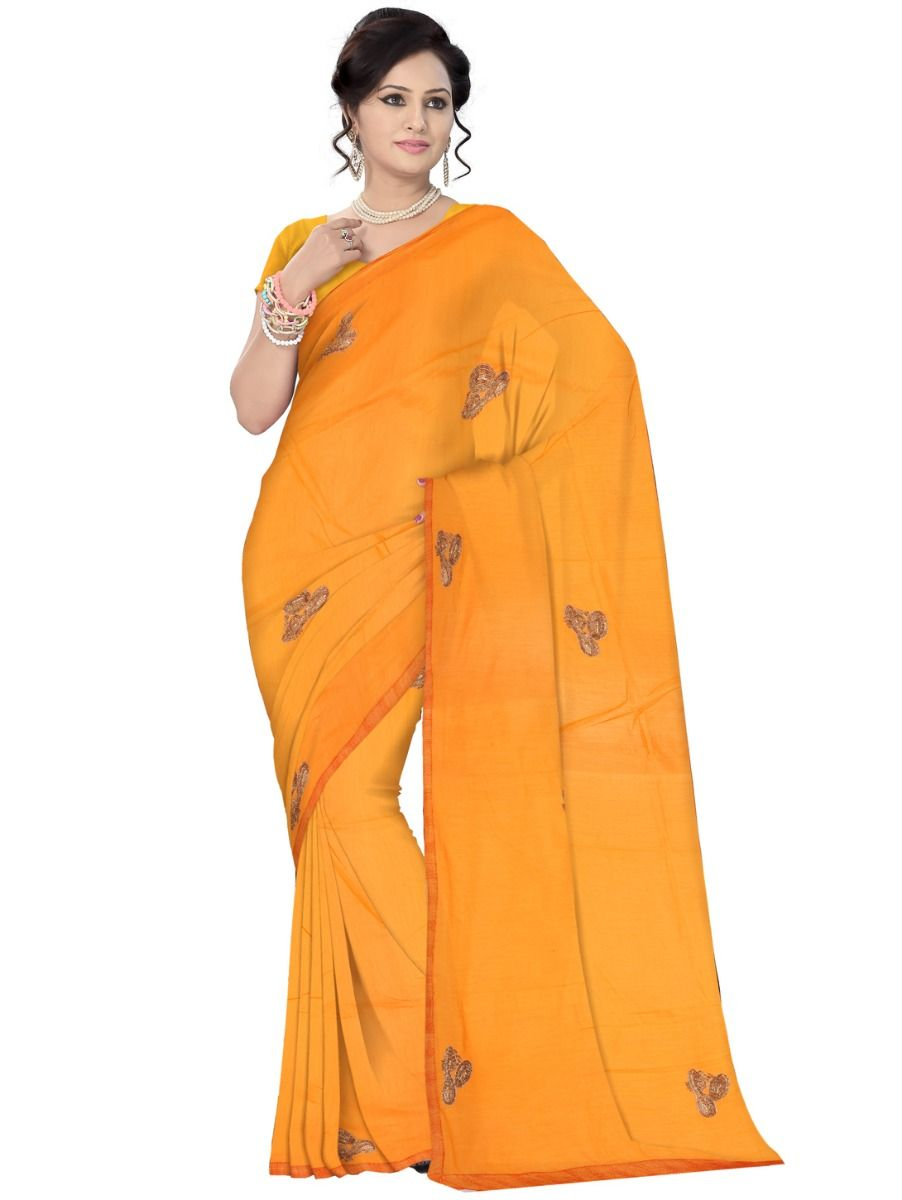 Kyathi Embroider Chanderi Cotton Saree