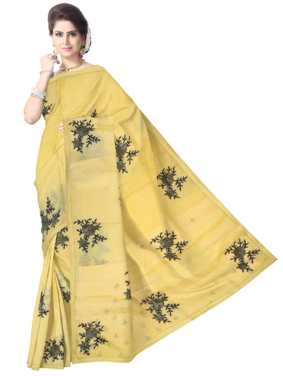 Kyathi Embroider Tissue Silk Saree