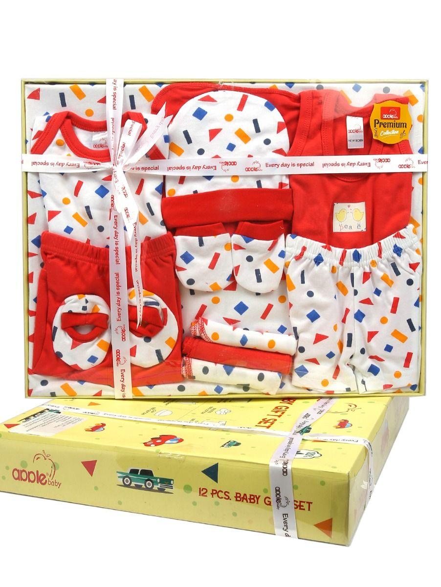 Infant Essentials Cotton Cloths Gift Set - 12 Pieces