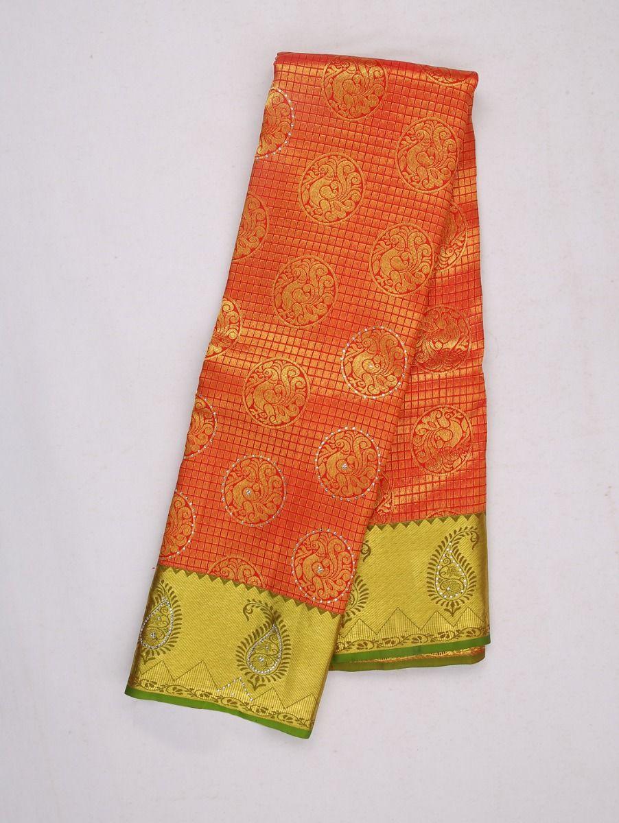 Vivaha Wedding Kanchipuram Silk Saree With Stone Work Design