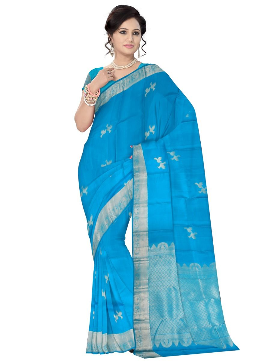 Vivaha Goddess Bridal Silk Saree-Bridal Silk Sarees and Wedding Silk Sarees are designed by Pure Silk to make the bride elegant and beautiful in her wedding event.