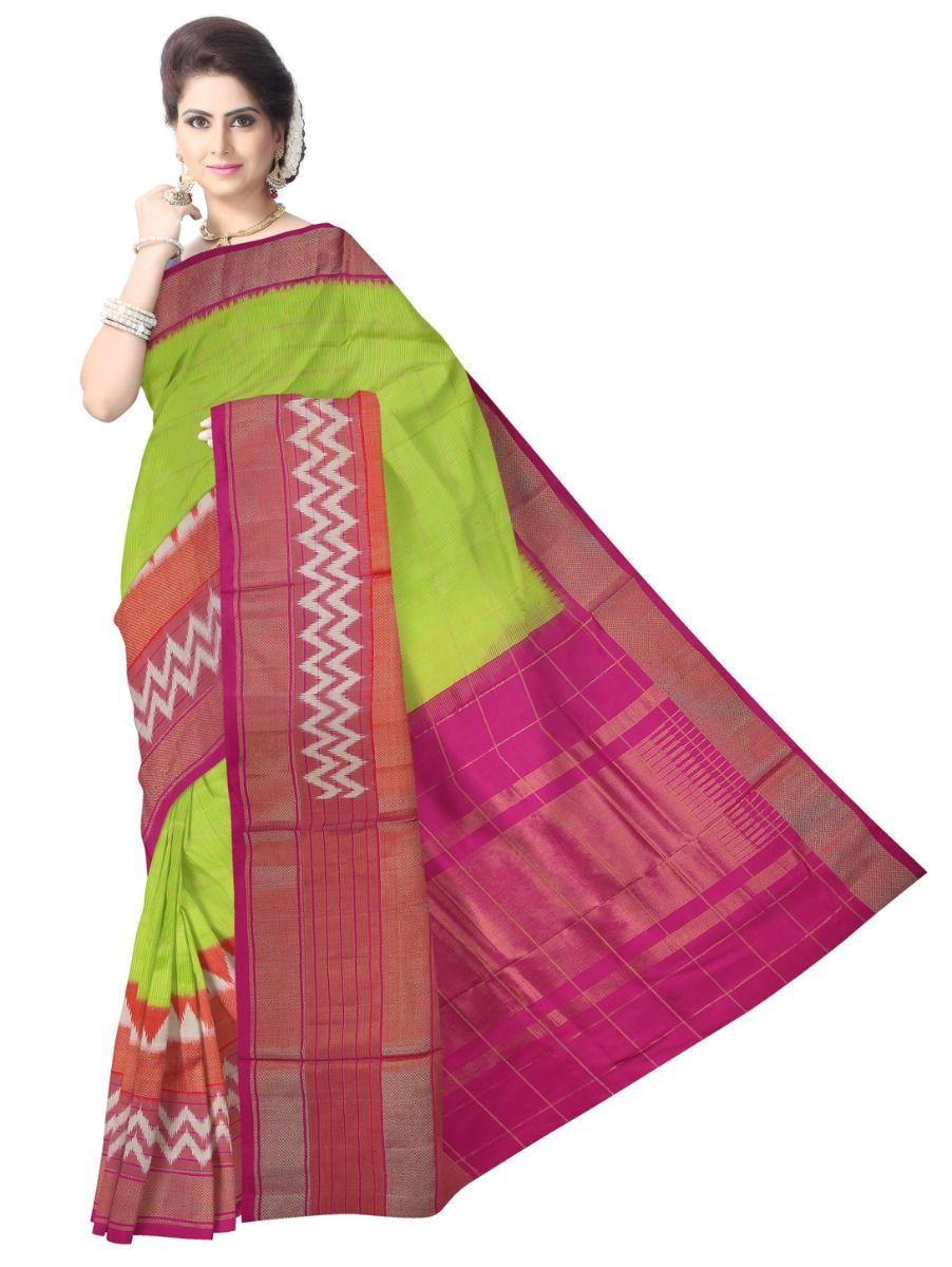 MEB6305417 - Pochampally Ikat Silk Saree
