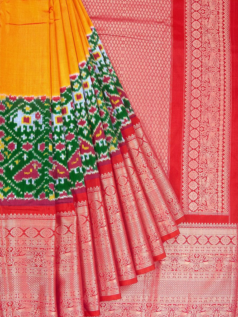 Pochampalli Handloom Pure Ikat Silk Saree