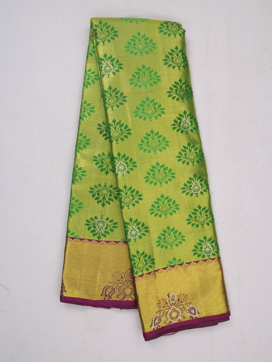 Vivaha Wedding Kanchipuram Silk Saree With Stone Work Design