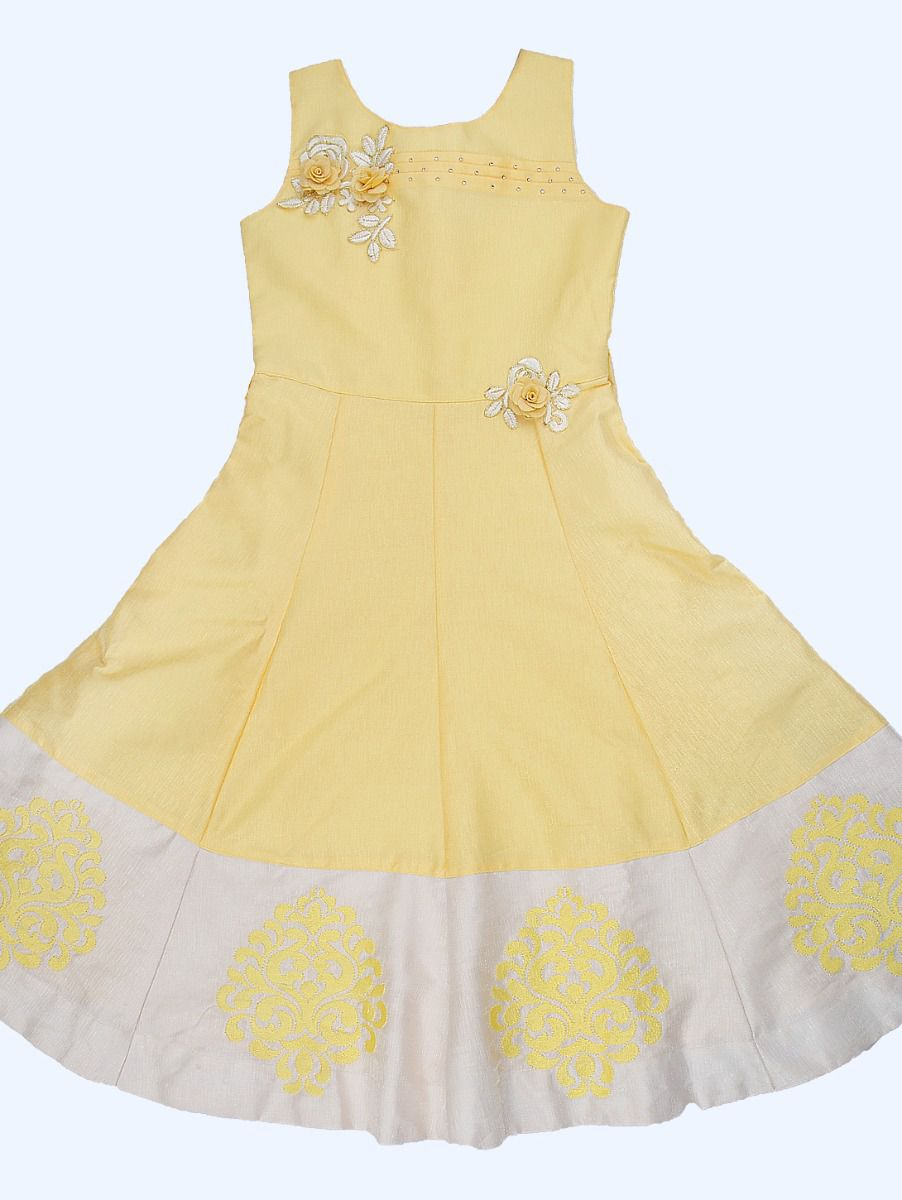 Girls Imported Satin Long Frock